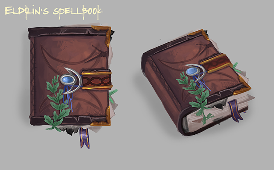 """""""A tattered and worn spellbook"""""""