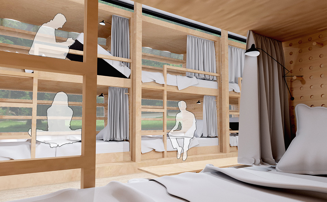 Venice Shelter for the Youth - View of Sleeping Bunks