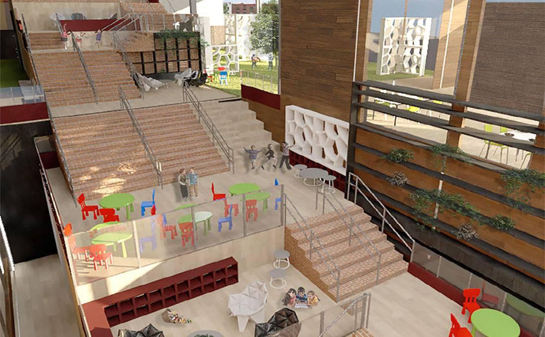 Studio 5: Architecture - Elementary School, Interior View