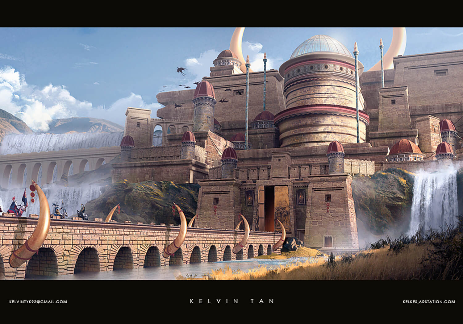 The capital city of the Kalderian people. A metropolitan consisting of various cultures, where trade and wealth flowed.