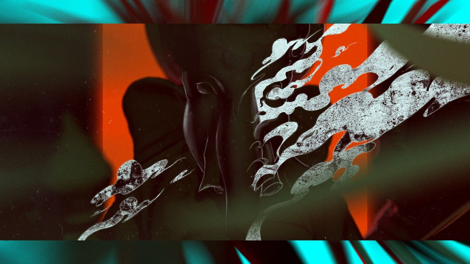 A series of style frames  for an experimental short to replay a moment I have to deal with anger issue.