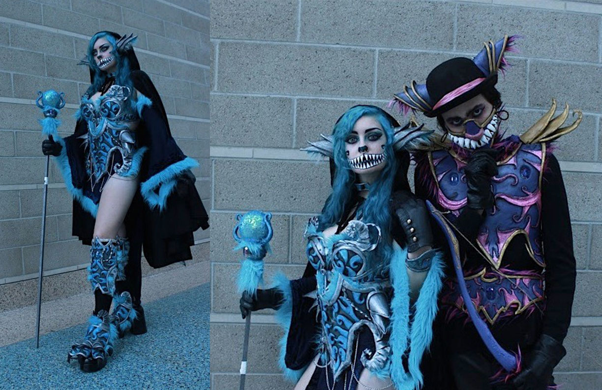 These are two armor builds I did inspired by both color versions of the Cheshire cat if they were both brought into a Dungeons and Dragons universe.