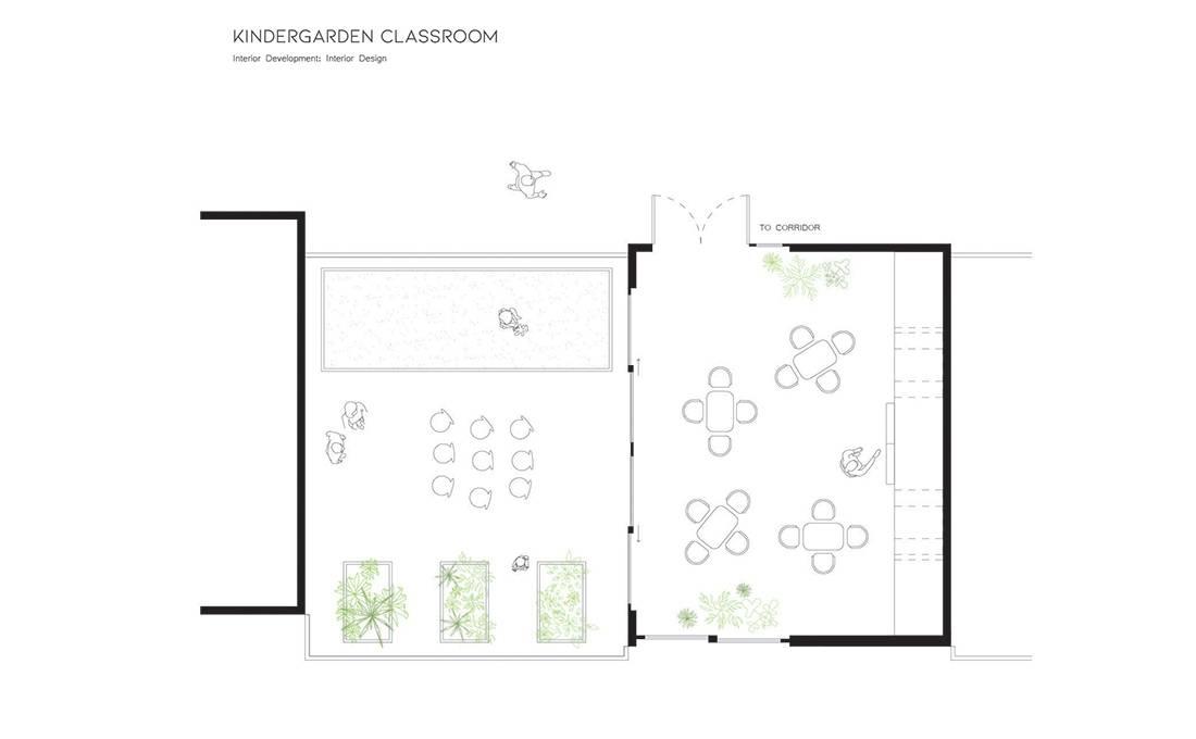 DTLA Elementary School KIndergarten Classroom - Plan