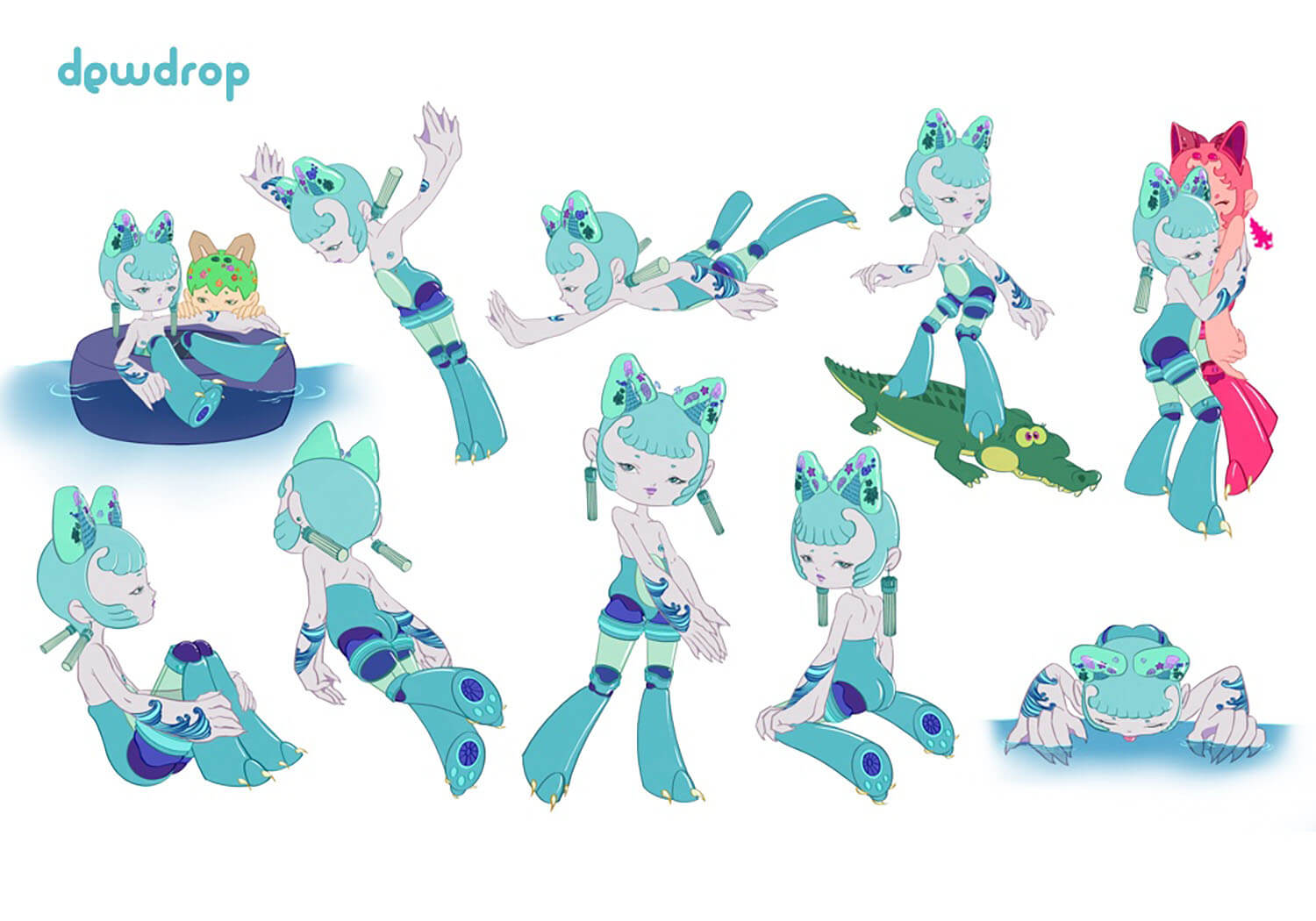 Dewdrop Character Poses