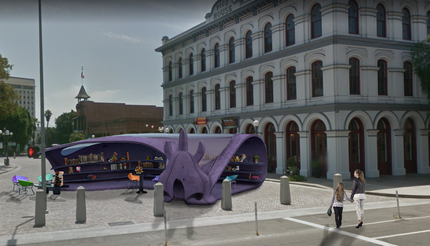 traveling golem installations that act as community spaces
