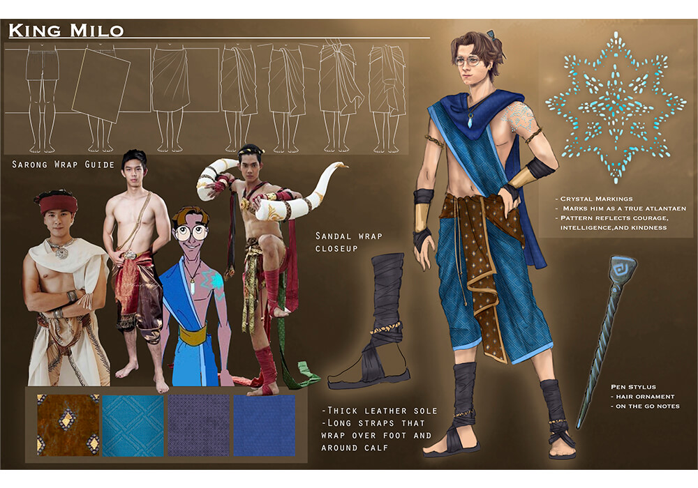 Costume design example showcasing an interpretation of a 2D work to a live action re imagining.