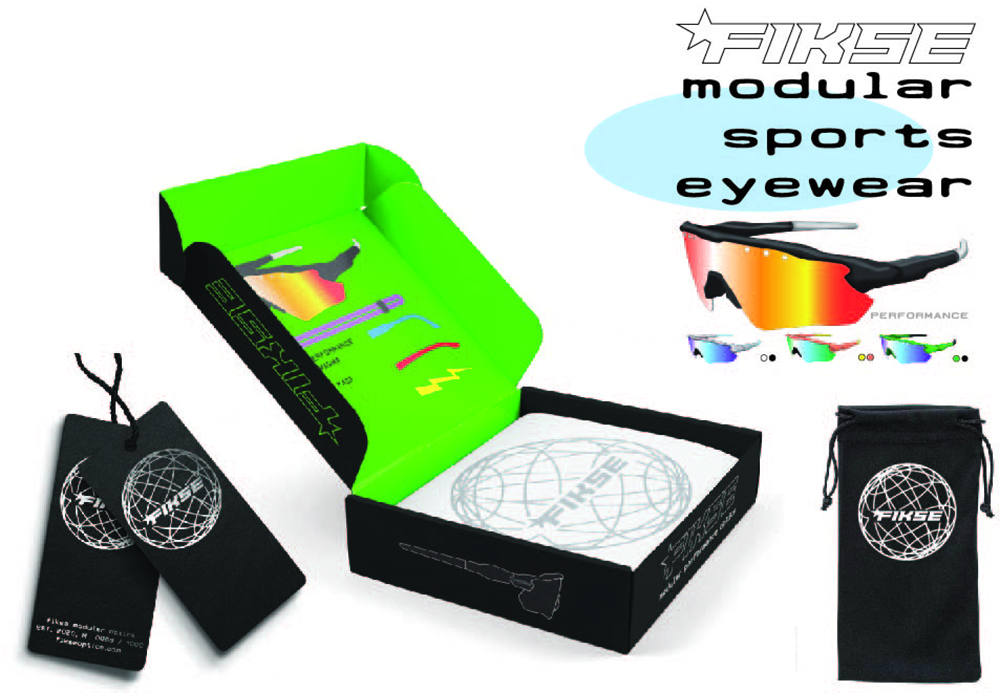 Packaging and branding for Fikse Optics modular eye protection