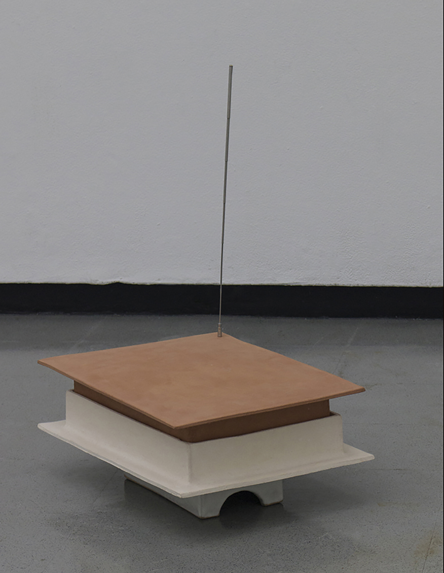 Kinetic, architectural model, box, ashes, magnet, antenna, Roomba, corporeal capsule.