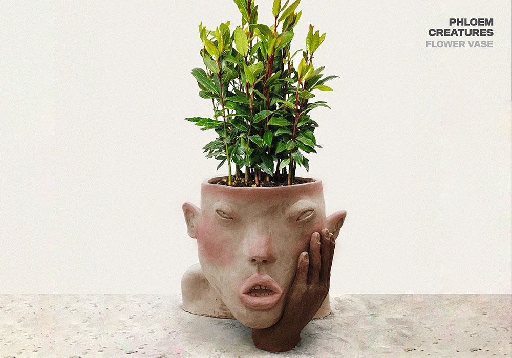 Immobilized beauty through solid and organic with a series of sculptural vases.