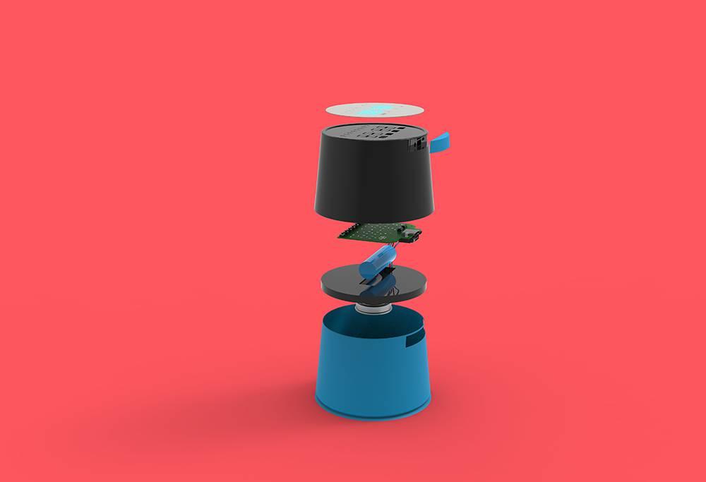 Suction cup waterproof alarm clock.
