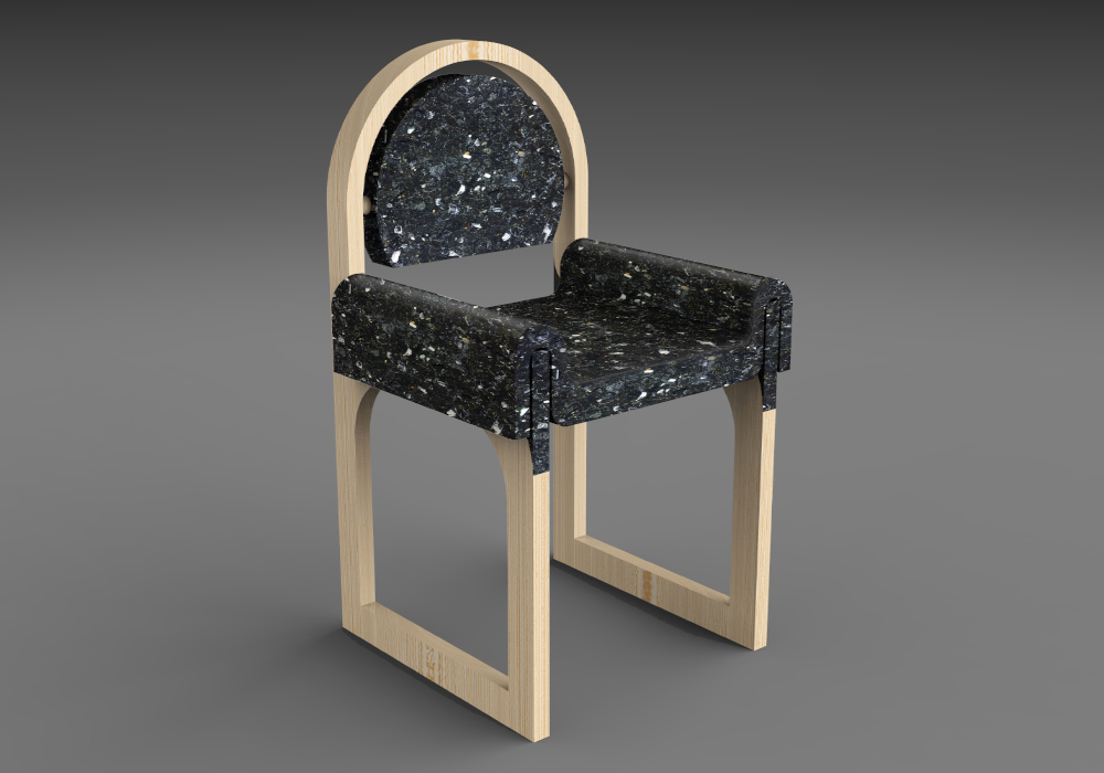 The Terrazzo Shower Chair is a more elevated and stylish seating made from laminated ash wood and recycled plastic. Designed for all adult ages in mind.