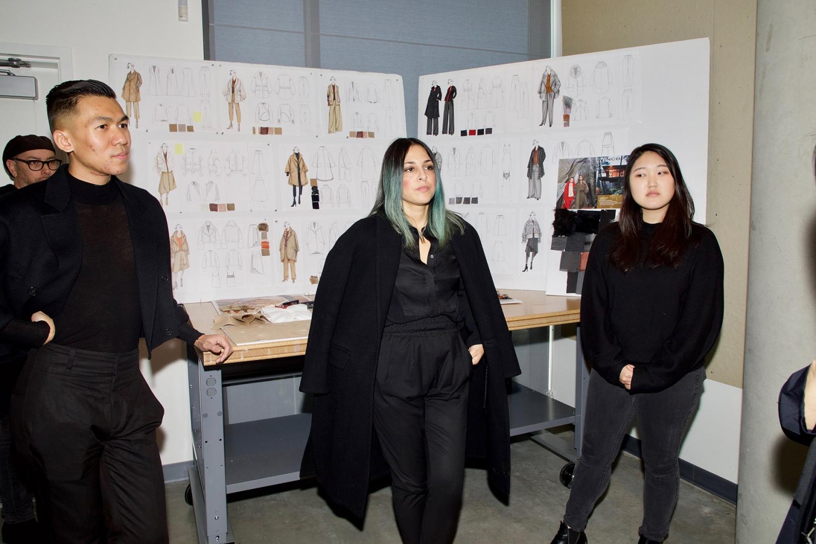 Sr. Mentor VINCE Sketch Selection - Designer/Mentor/Alumni - Arthur Thammavong (Women's Line)  and Debbie Sabet ( Men's Line)