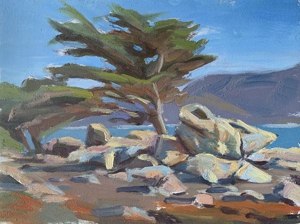Plein air painting by Mason Williams