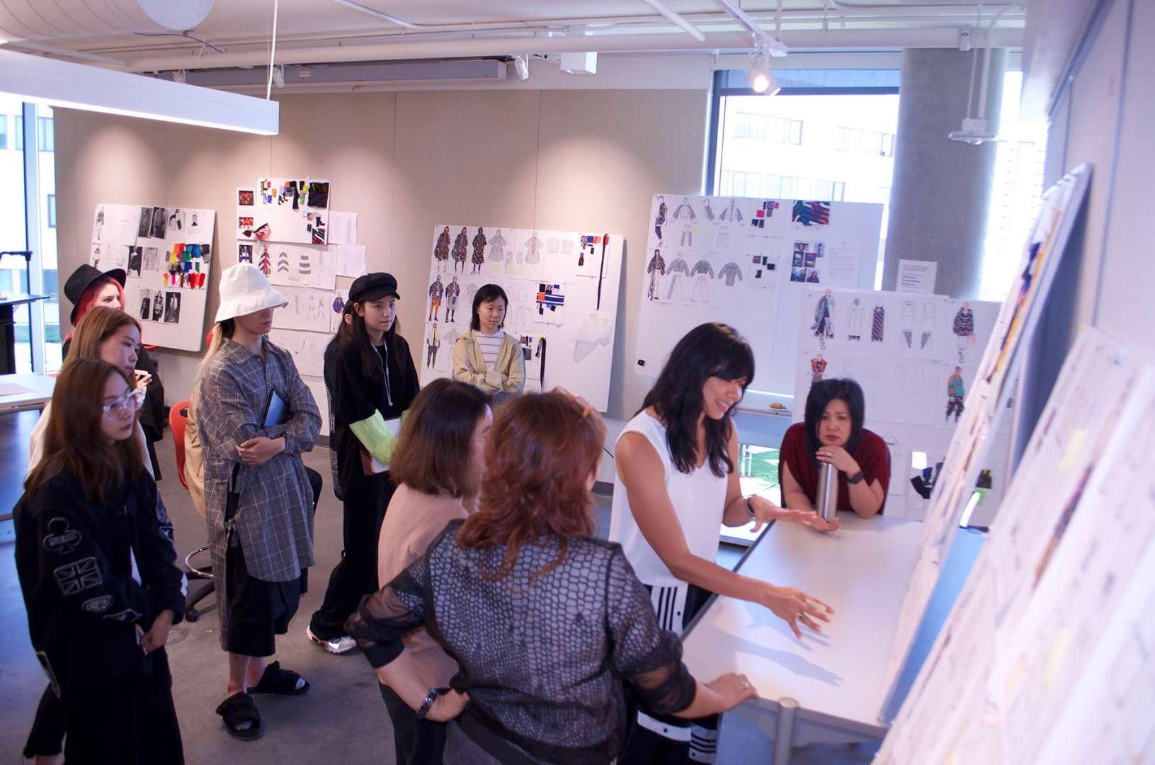 Agron/Adidas Jr. Mentor Critique with Alumni Jennifer Tong VP Design Adidas (98)