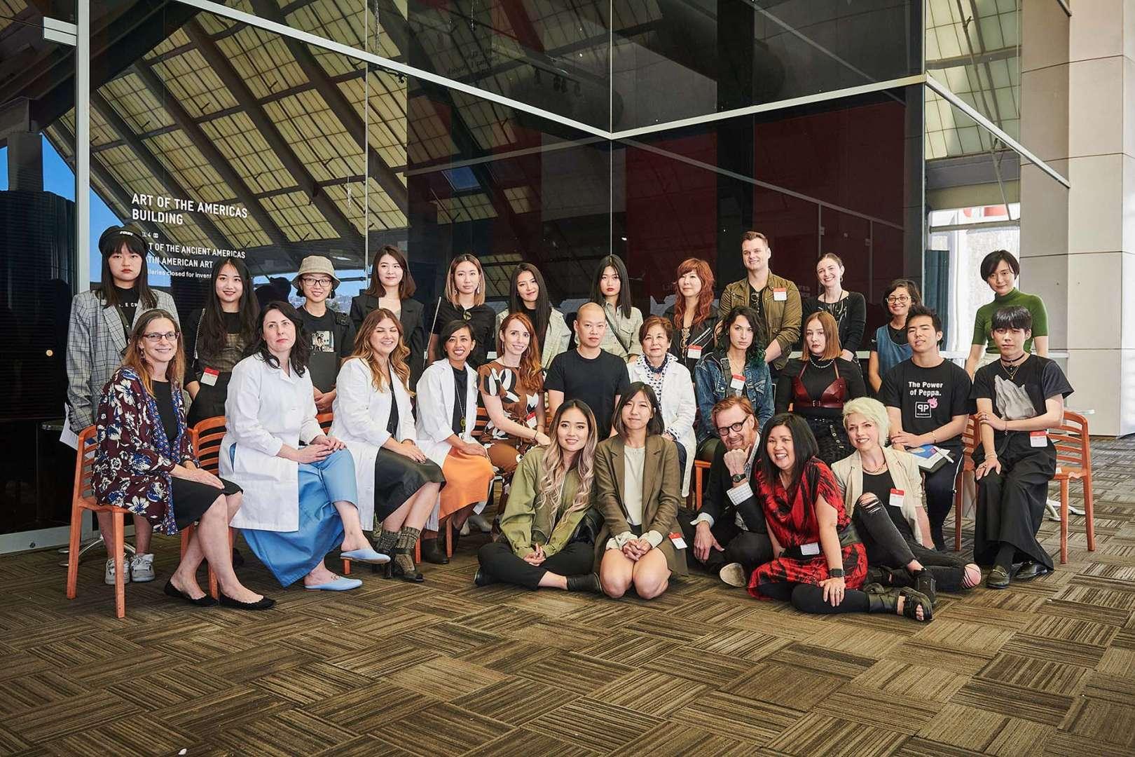 Senior Mentor Jason Wu Team Photo at LACMA