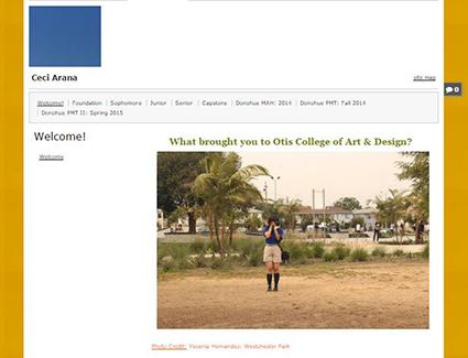 Ceci's ePortfolio home page
