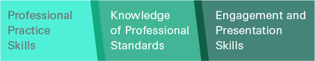 Professional Practice Skills, Knowledge of Professional Standards, Engagement and Presentation Skills