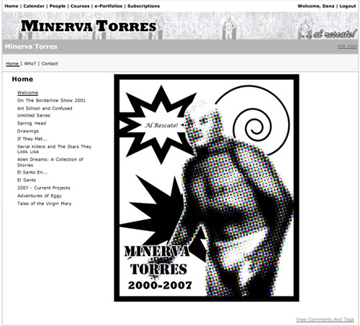 Screenshot torres portfolio