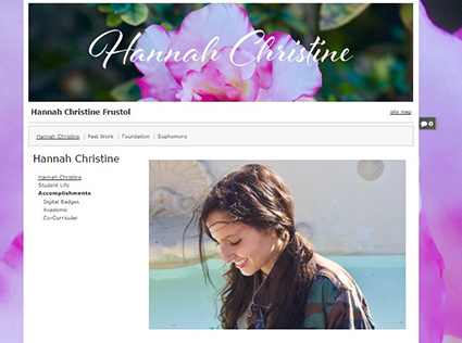 Hannah's ePortfolio home page