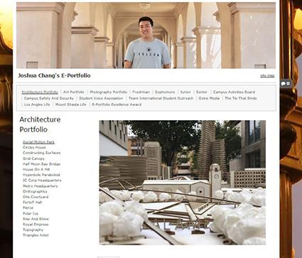 Joshua Change ePortfolio home page