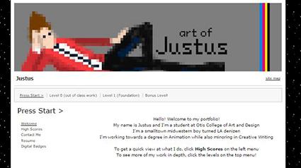 Justus's ePortfolio home page
