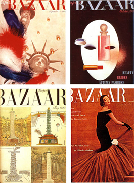 Four Harper's Bazaar covers