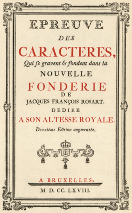 Rosart, Cover of 1768 edition