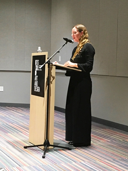Maggie Nelson speaking at Otis College of Art and Design