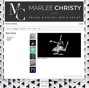 Marlee welcome page