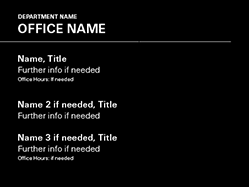 Square Office Template