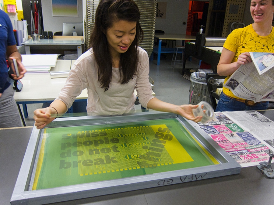 Silk Screening at Otis