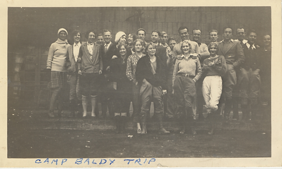 Otis Students circa 1920s - Mt Baldy Trip