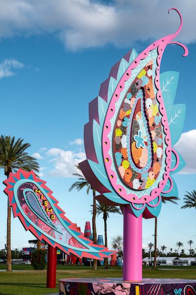 Detail of Enriquez's Coachella installation.