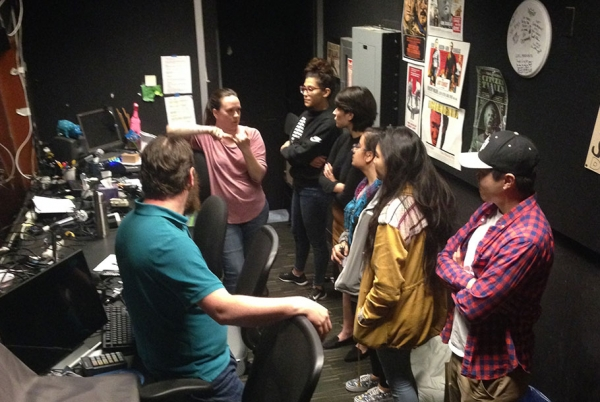 Prop design students tour Center Theater Group's stage