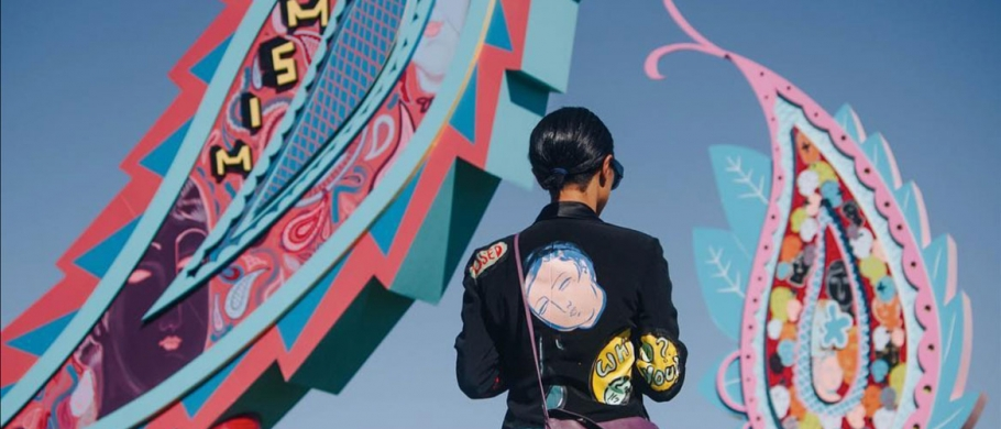 "Sofia Enriquez's installation, ""Mismo,"" at Coachella"