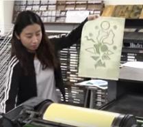 Otis student and pressure printing
