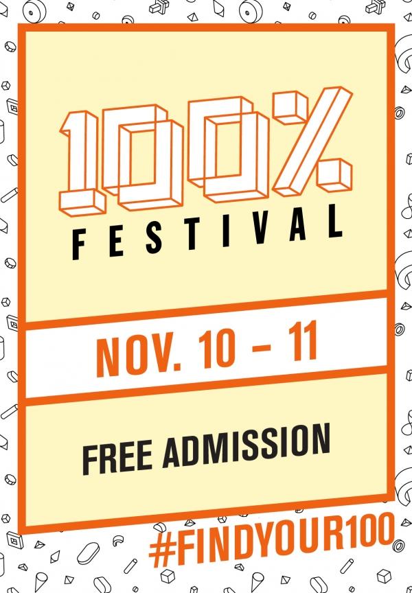 RSVP for the 100% Festival