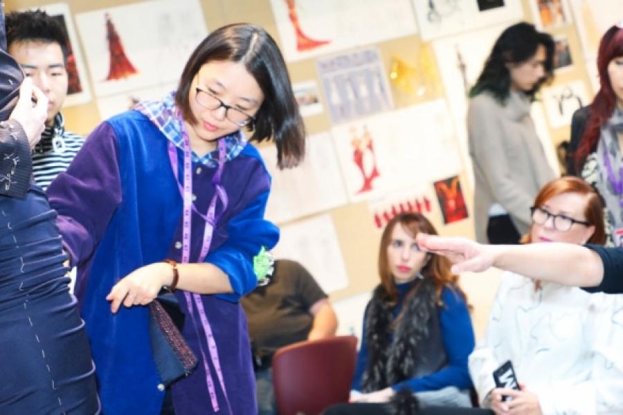 Otis Fashion Student working with Jason Wu