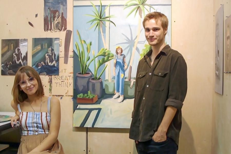 Kelley Mogilka and Mason Williams