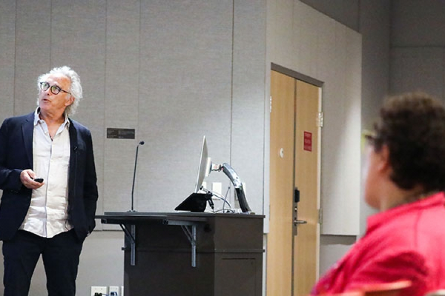 Eric Fischl lectures at Otis College