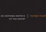 Cover of For an Ineffable Metrics of the Desert, white title text against a black background