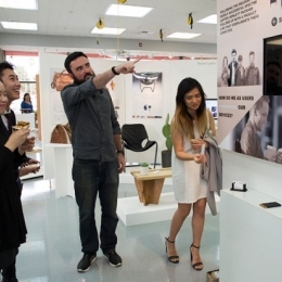 people looking at product at the annual exhibition