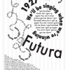 Elle Anderson typography poster Futura Tubthumping This is a poster that focuses on one specific typeface and song and communicates the connection between the two
