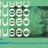 This is a motion piece for an art history channel titled MUSEO. The channel/network identity highlights different periods of art from classical to modern