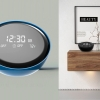 This is a  sleek minimal design for an alarm clock radio.