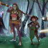 """""""Four Characters Standing in the Forest"""""""