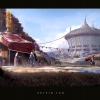 Environmental concept design focused on visualizing the architectural elements of Ecora's Steppe people.