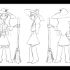Character turn-around of a Southern witch.