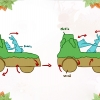 Moving diagram of the pull toy