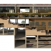 Studio 5: Architecture - Elementary School, Longitudinal Section Perspective